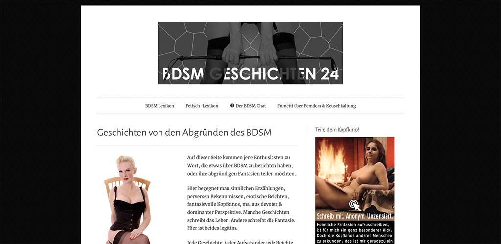 Alt und bekannt ist BDSM-Geschichten24 für seine gratis Femdom Geschichten
